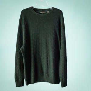 Karl Lagerfeld XL Black Basket Weave Crew Sweater